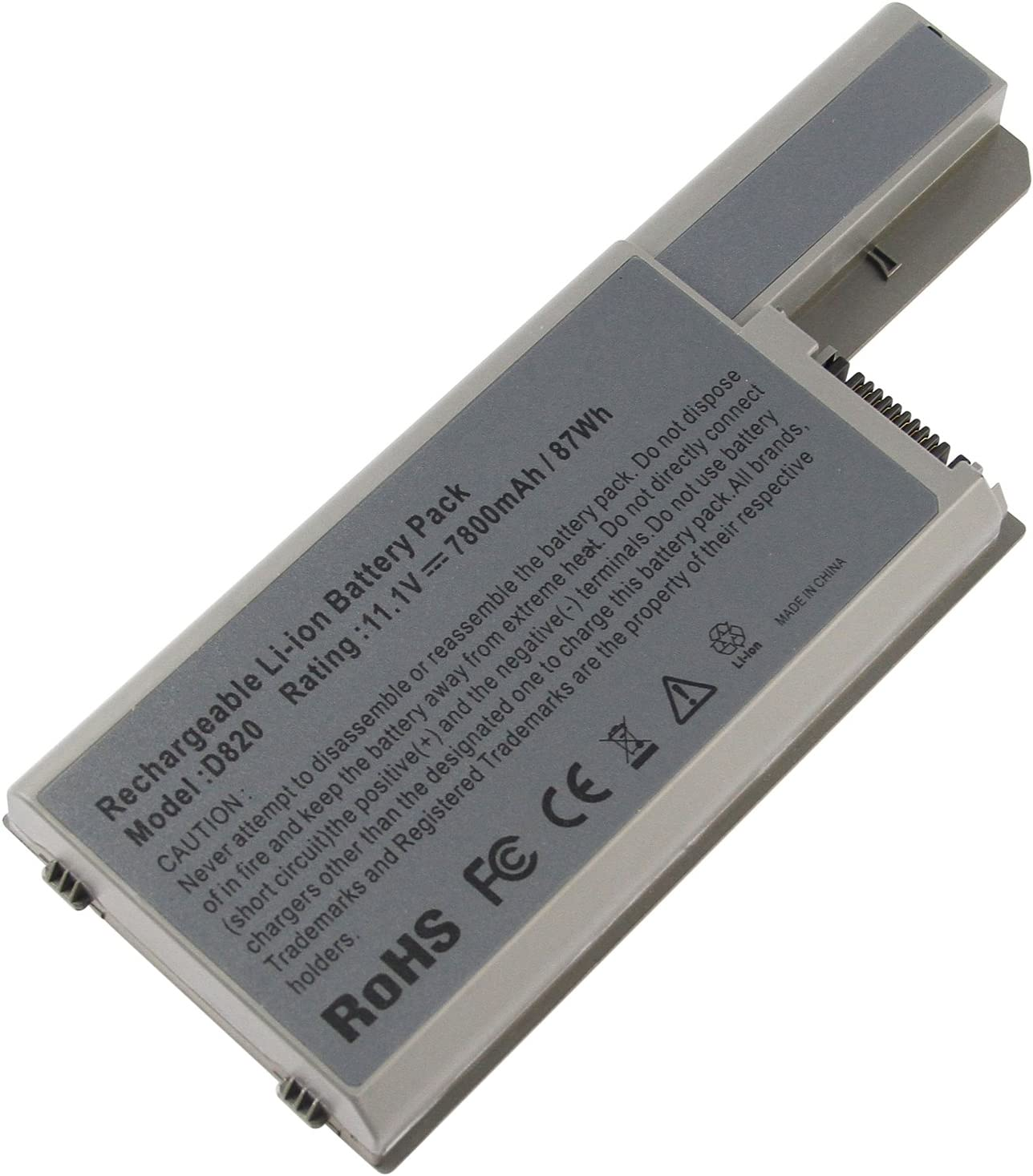 Futurebatt 9Cell 7800mAh Battery for Dell Latitude D830 D820 D531 D531N, Precision M4300 Mobile Workstation, Precision M65, 310-9122 312-0393 312-0401 451-10308 451-10326 451-10410 DF192 DF230 DF249