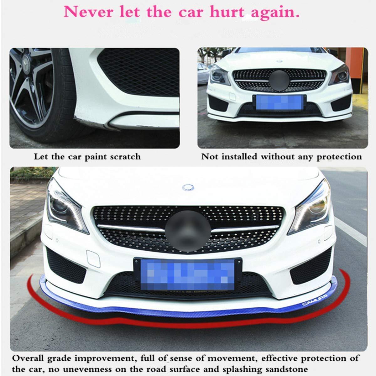 100/% waterproof protection Carbon Fiber Roof Spoiler Carbon Fiber Blue Side Skirt HengJia Auto Parts 2.5m//8.2ft Car Rubber Front Bumper Lip Front Lip