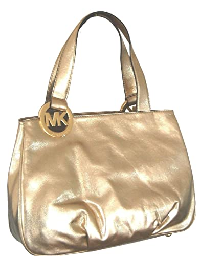 4228465fa53b Amazon.com: MICHAEL Michael Kors Large Fulton EW Leather Tote in Pale Gold:  Shoes