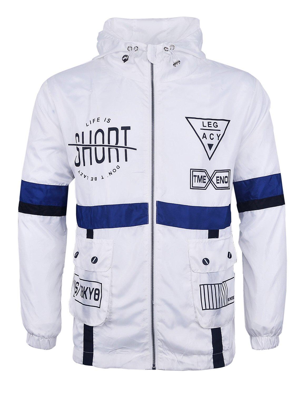 Lamilus Men's Lightweight Hooded Zip-up Windproof Windbreaker Jacket