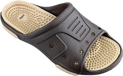 844fe21ed225 NP-7404 Men s Massage Sandals Flip Flops Slide Slip on Rubber Sport Shower  Beach Water