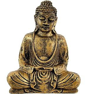 Brass Statue Individual Artist ZBB69 Exotic India Meditating Buddha