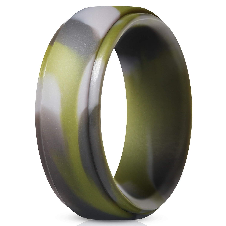 魅力的な thunderfitシリコンリングメンズの - – 4 Pack &シングルパックゴムウェディングバンド B07CJMZLTY グリーンカモ(Green 8 Camo) B07CJMZLTY 7.5 - 8 (18.2mm) 7.5 - 8 (18.2mm)|グリーンカモ(Green Camo), 大人の上質 :458dffa0 --- beyonddefeat.com