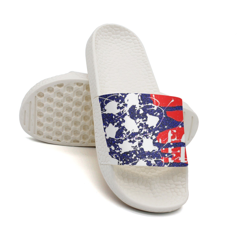 GKEPJYVCK American Flag United States Flag Men Slides Low Top Print White