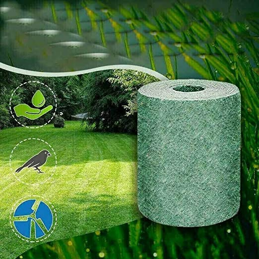 SOSPIRO Biodegradable Semilla Césped Tapete Rollo Jardín Césped, Viento Sólido Tierra Sombreado Fertilizante Jardín Picnic, Hidratante, Sombreado, 20 300 CM - 1 Pcs: Amazon.es: Jardín