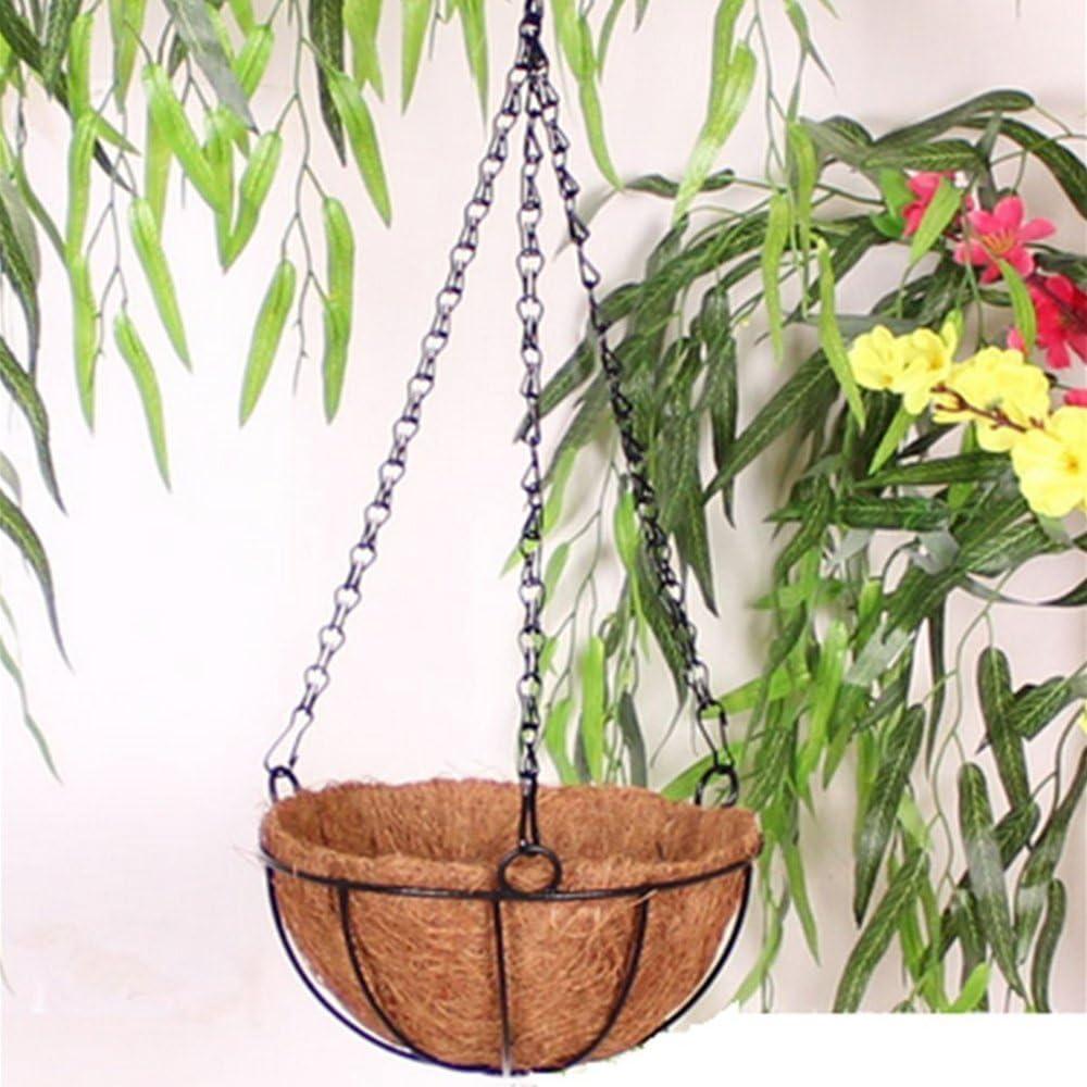 2 Pezzi cestello a 3 Gambe Catena di Ricambio in Metallo con Gancio e Clip per Appendere vasi da Fiori da Giardino ZZM Catena appesa con Clip