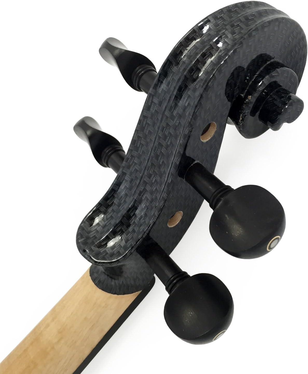 Leeche Wood Electric Violin Full Size 4//4 Advanced Intermediate Electric Silent Carbon Fiber Violin Kit With Case,Bow,Rosin,headphones,Shoulder Rest,Strings,Finger Guide
