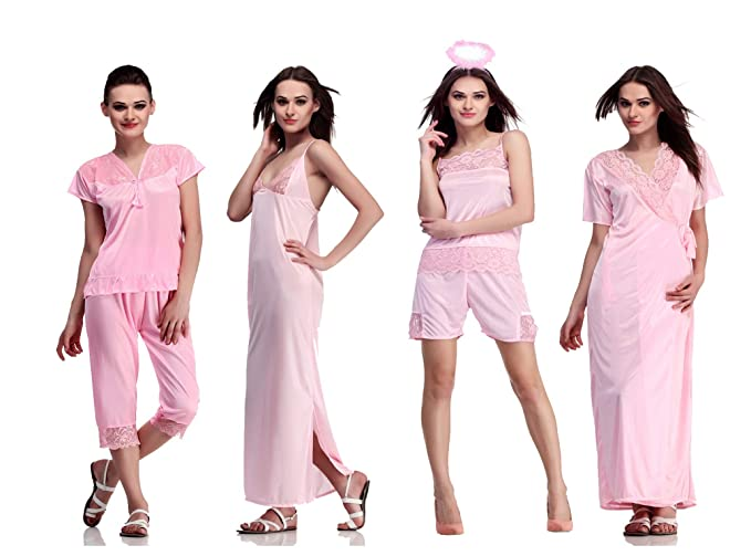 3c4a2d4972 Image Unavailable. Image not available for. Colour  Belle Nuits Women s  Satin Nightwear Night Dress Nighty ...