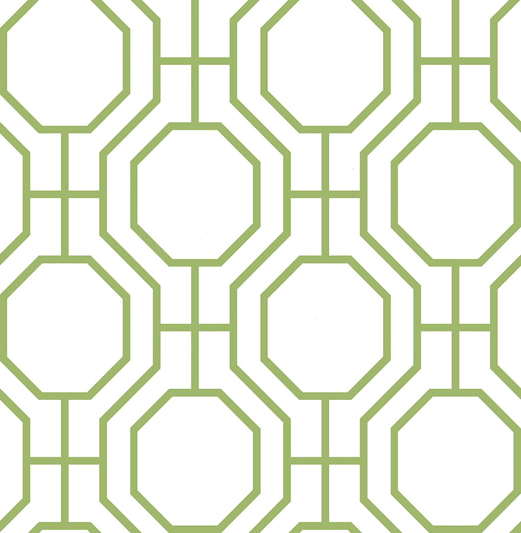 A-Street Prints 2625-21846 Circuit Modern Ironwork Wallpaper, Green