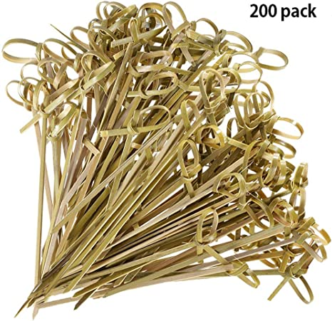 Bambou brochettes en bambou de style 200 pièces Japaneses