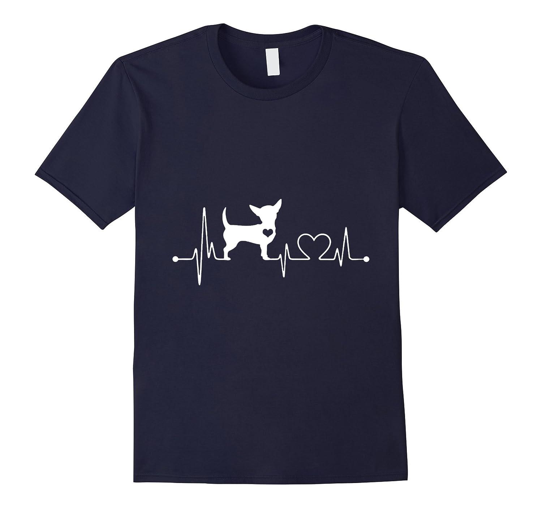 Chihuahua in heartbeat T-shirt-Art