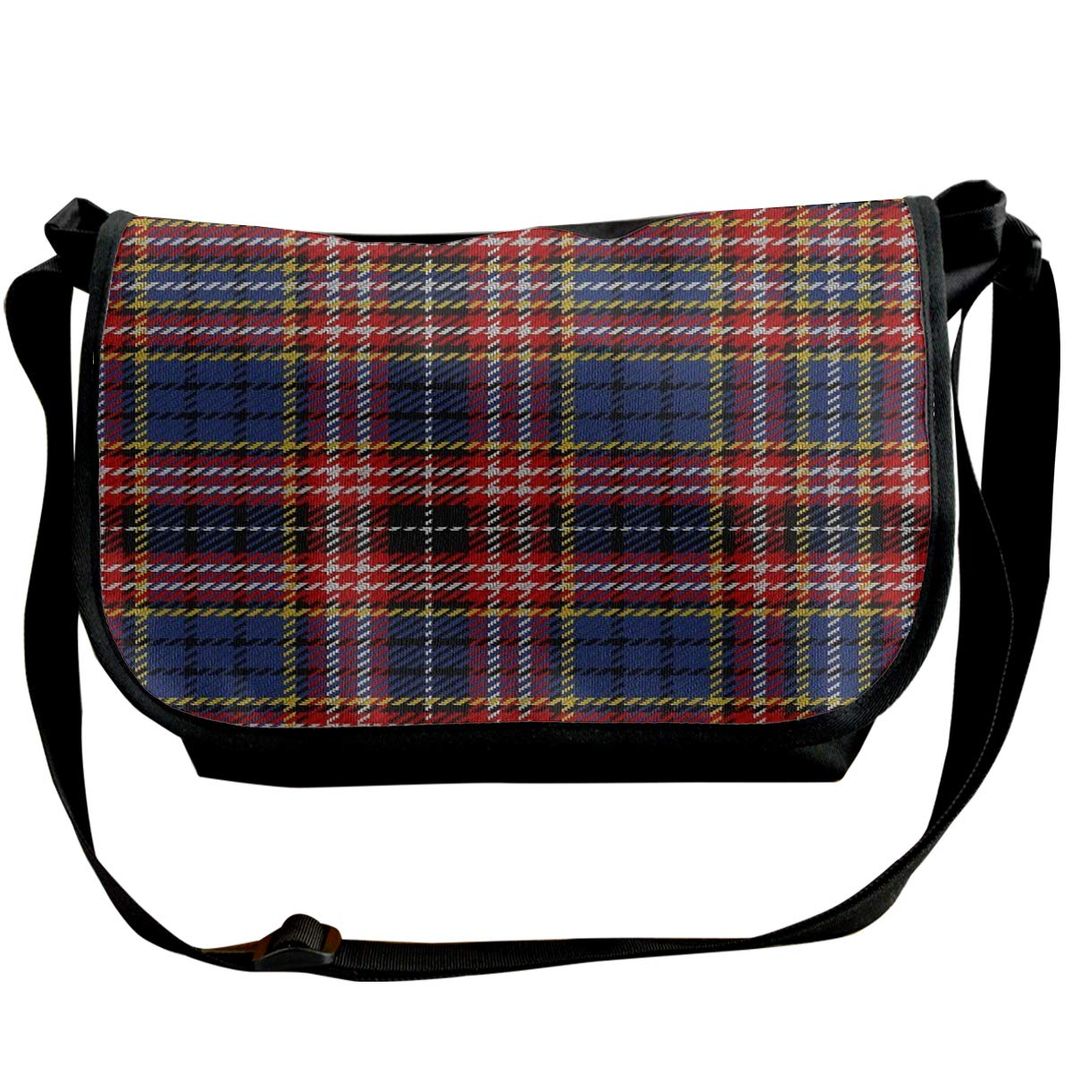 Futong Huaxia Classic Scottish Plaid Travel Messenger Bags Handbag Shoulder Bag Crossbody Bag Unisex