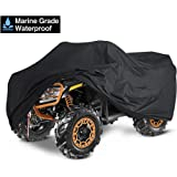 kayme ATV Cover Waterproof Heavy Duty All Weather, Quad 4 Wheeler Cover Sun Rain Snow Protection, Fits for Honda, Yamaha, Pol