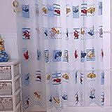 Rideaux Tulle Moustiquaire de fenêtre pour les enfants de motif Cartoon Car