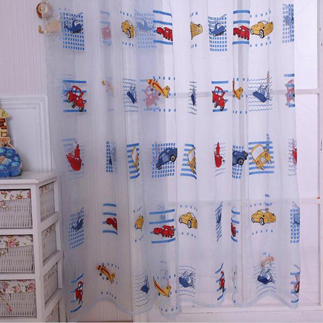 cortina de coche de dibujos animados de ambiente amigable para los nios acabados impresas cortinas de