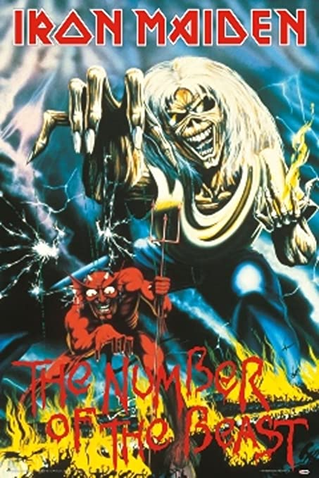 Scorpio Posters Iron Maiden The Number Of The Beast Music Poster 60x90 Amazon Co Uk Welcome