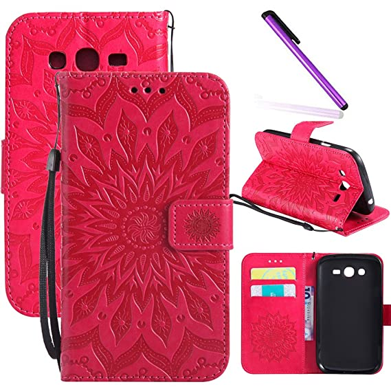 look for dc568 7ed85 Galaxy Grand Neo Plus I9060 Case LEECOCO Embossed Floral Wallet Case with  Card Cash Holder Slots Wrist Strap [Kickstand] PU Leather Flip Slim Case ...