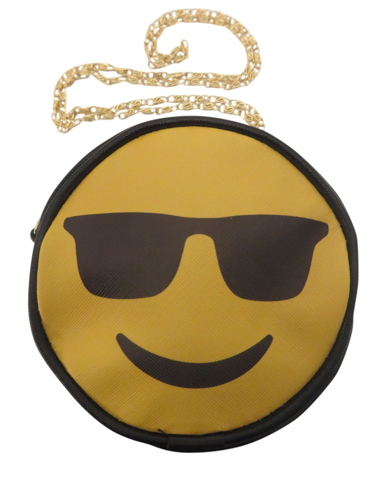 Crossbody bags Purse for Kids - Emoji Messenger Bag for Girls - Small with Gold Chain - Converts to Purse (sunglasses)