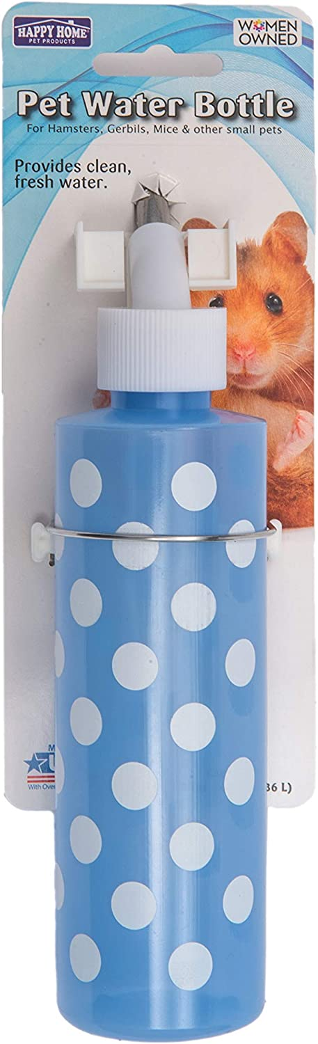Happy Home Pet Products Water Bottles for Rabbits, Ferrets, Chinchillas, Hamsters, Rats and Other Small Animals.