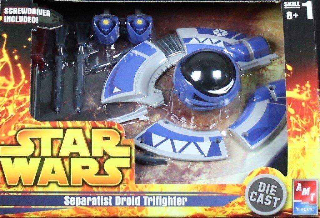 AMT ERTL Star Wars Separatist Droid Trifighter Built Model #38362