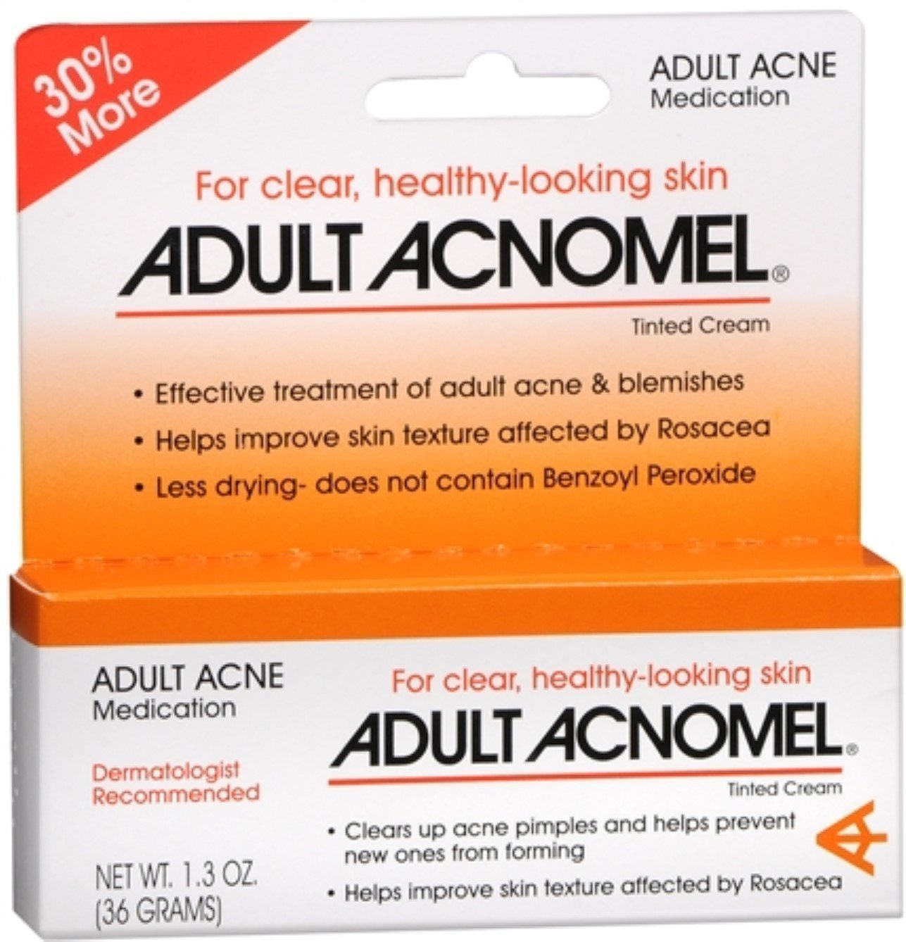 Adult Acnomel Tinted Cream 1.30 oz (Pack of 6)