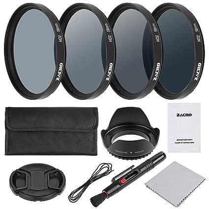 Zacro Kit de filtros fotográficos 58 mm (Kit de filtros y ...