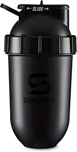 ShakeSphere Tumbler: Protein Shaker Bottle, 24oz ? Capsule Shape Mixing ? Easy Clean Up ? No Blending Ball or Whisk Needed ? BPA Free ? Mix & Drink Shakes, Smoothies, More (Glossy Black)