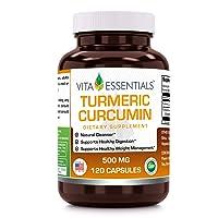 Vita Essentials Turmeric Curcumin 500 Mg Capsules, 120 Count