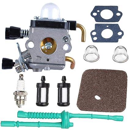 Poweka C1Q S97 Carburetor For STIHL FS38 FS45 FS46 FS55 KM55 HL45 FS45L FS45C FS46C FS55C FS55R FS55RC FS85 FS80R FS85R FS85T FS85RX String Trimmer