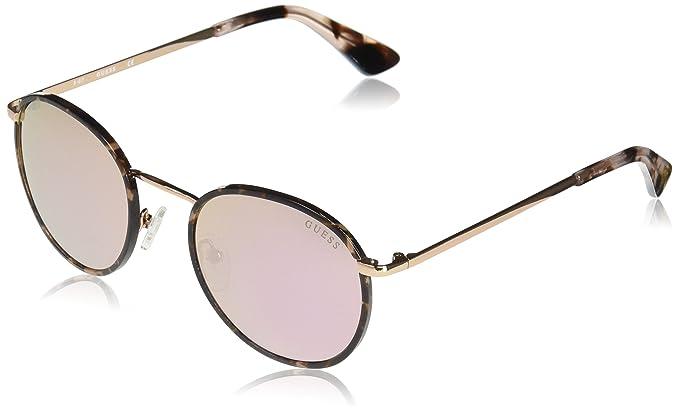 Guess GU7415A Gafas de Sol, Dorado (Oro Rosa Lucido/Bordeaux ...