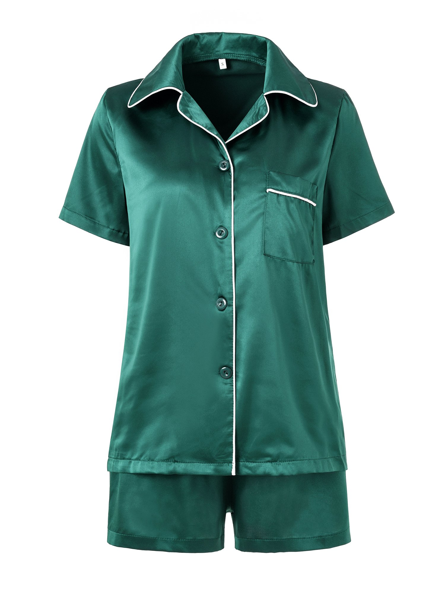 Summer pj,Ladies Pajama Soft Cool Sleep Set Satin Nightwear Travel