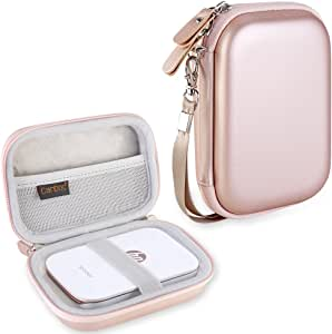 Canboc Carrying Case for HP Sprocket Portable Photo Printer and (2nd Edition), Polaroid Zip Mobile Printer, Lifeprint 2x3 Photo and Video Printer, Mesh Pocket fit Photo Paper and Cable, Rose Gold