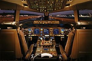 EUR Laminated Boeing 777-200 Flight Deck Airplanes Jet Print Poster 24x36