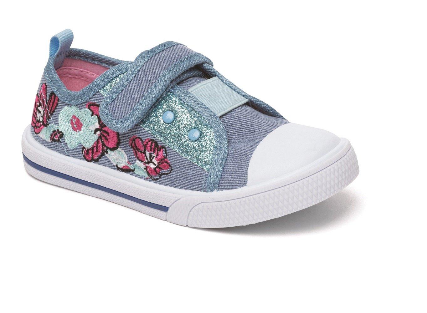 Filles Toile Chaussures D'été Des Pompes Taille Plimsole Vieux Rose Chatterbox Bleu, Bleu, Taille Enfant 37 Eu