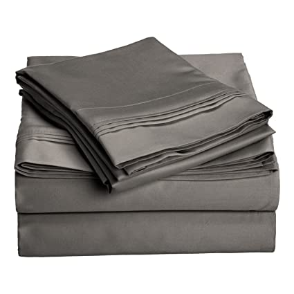 Beau 1500 Thread Count 100% Egyptian Cotton, Single Ply, Queen Bed Sheet Set,