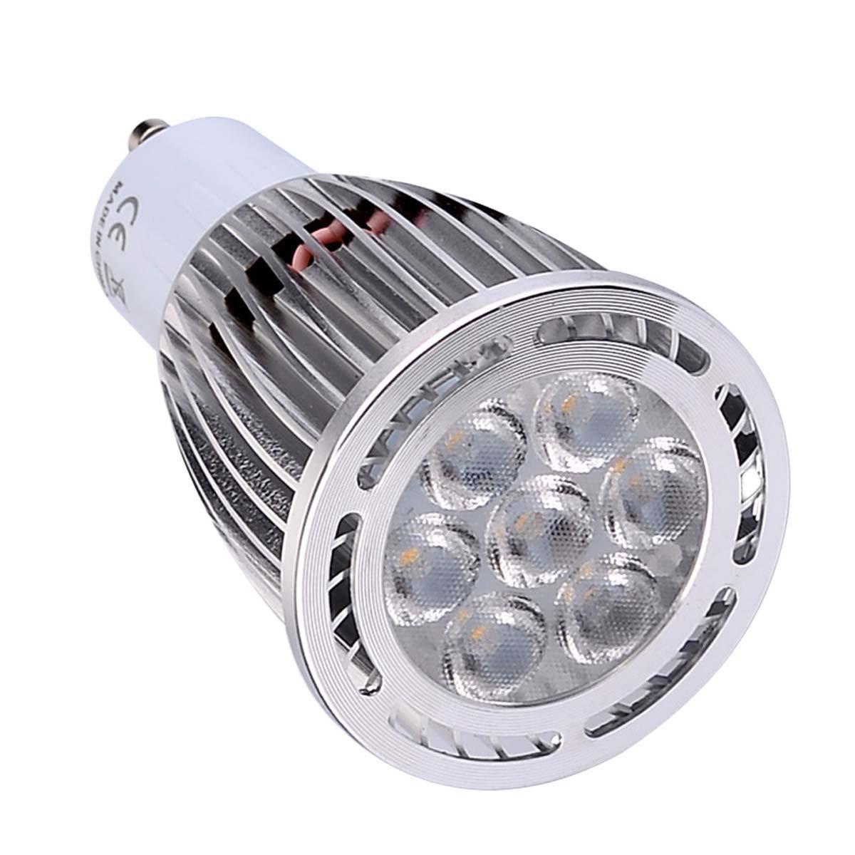 GU10 7W SMD 3030 600-700 LM Warm White/Cool White Frosted LED Spotlight AC 85-265V AC 220-240V AC 110-130V (1Pcs) (Color : AC 85-265V-Cold White)