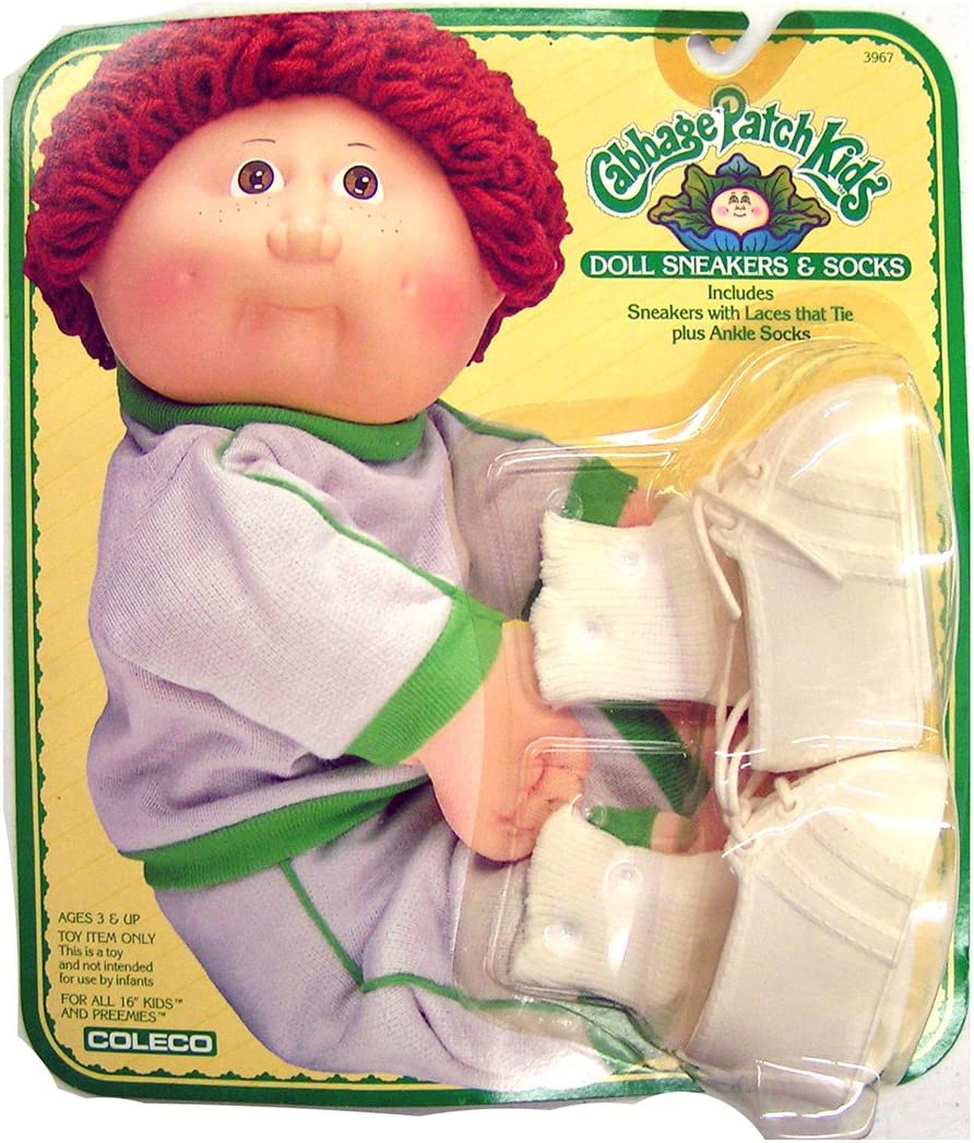 Cabbage Patch Kids Doll Socks Vintage Coleco one pair of socks