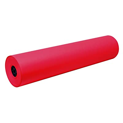 Pacon Decorol Art Paper Roll, 3-Feet by 500-Feet, Festive Red (100601): Industrial & Scientific