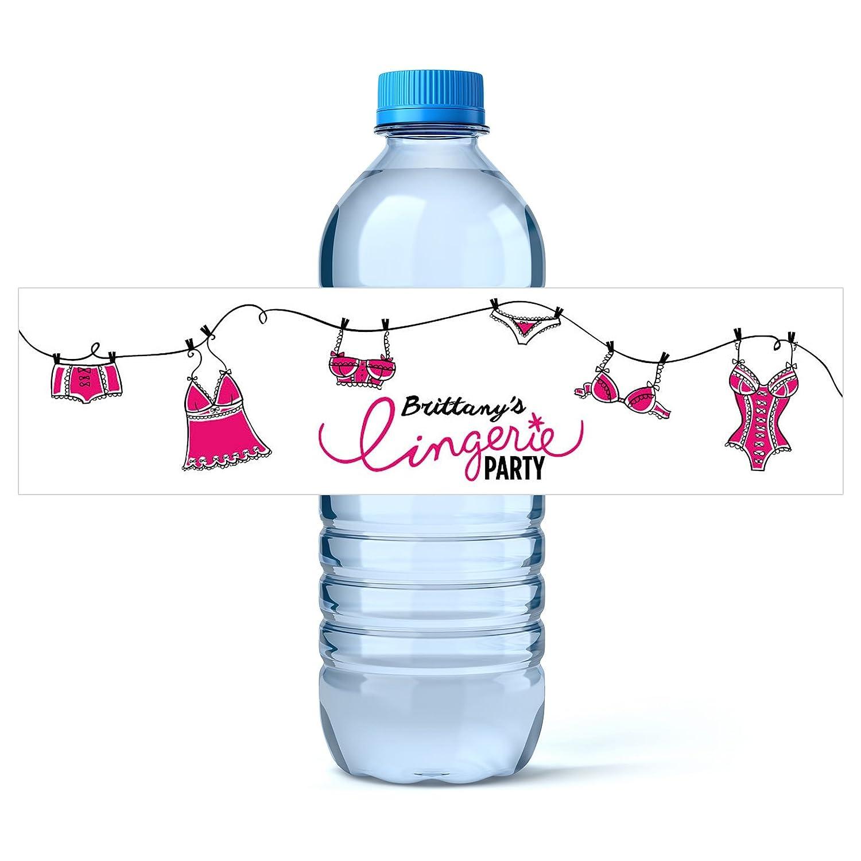water bottle label dimensions