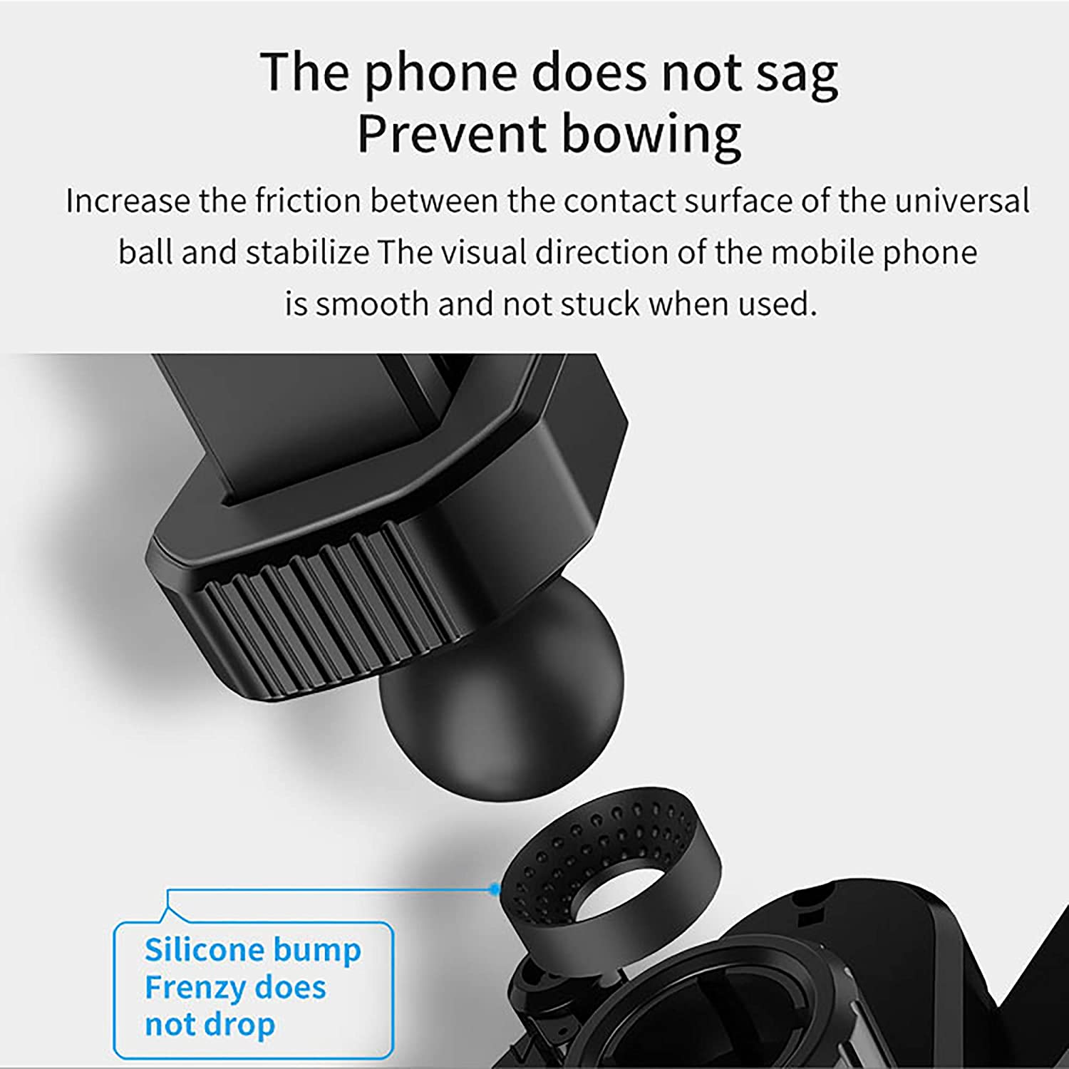 Air Vent Car Phone Mount for 4.7 to 6.8 inches Smartphones Auto-Retractable Automatic Locking
