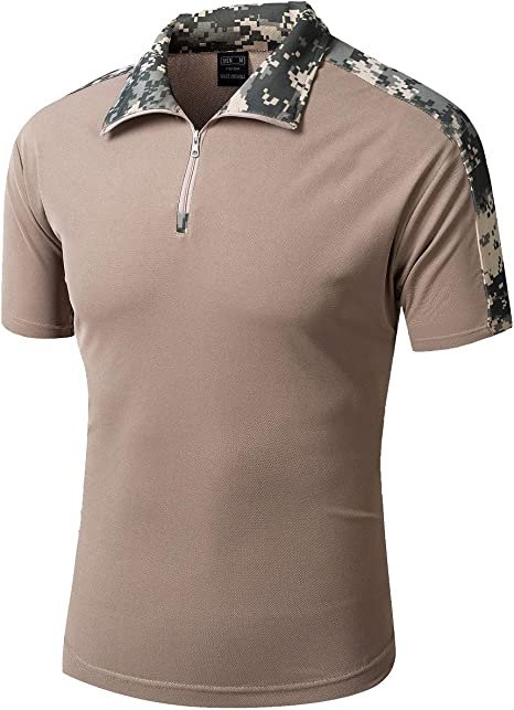 YFNT Camisa Militares De Polo De La Solapa De Los Hombres ...
