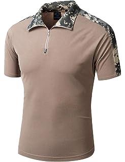 YFNT Camisa Militares De Polo De La Solapa De Los Hombres Camuflaje Camiseta De Manga Corta Camo T Shirt: Amazon.es: Deportes y aire libre