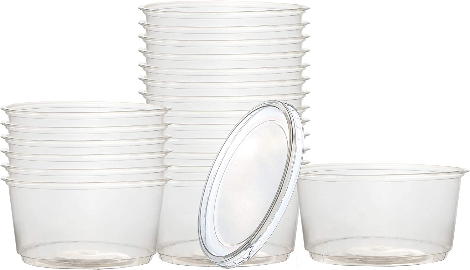 Catergoods 50 Pack of 16oz Meal Prep Containers The Food Storage Containers are Clear with Leak Proof Lids Making These Freezer Containers with Lids Perfect for all Types of Food and Soup