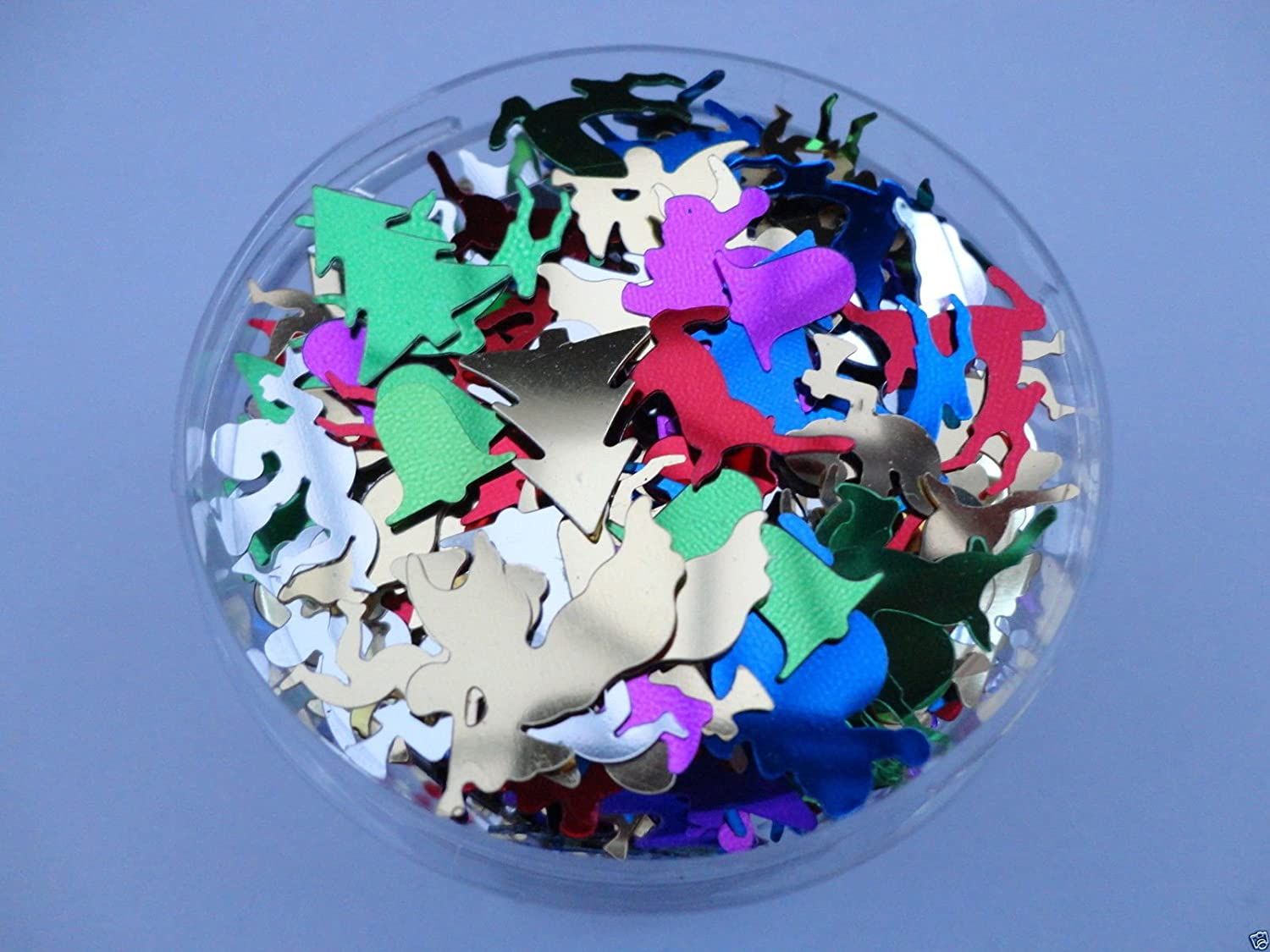 Christmas Mix Craft Sequins Confetti Xmas Party Card Making Art 4/10/20/50G - Weight: 10G a2bsales