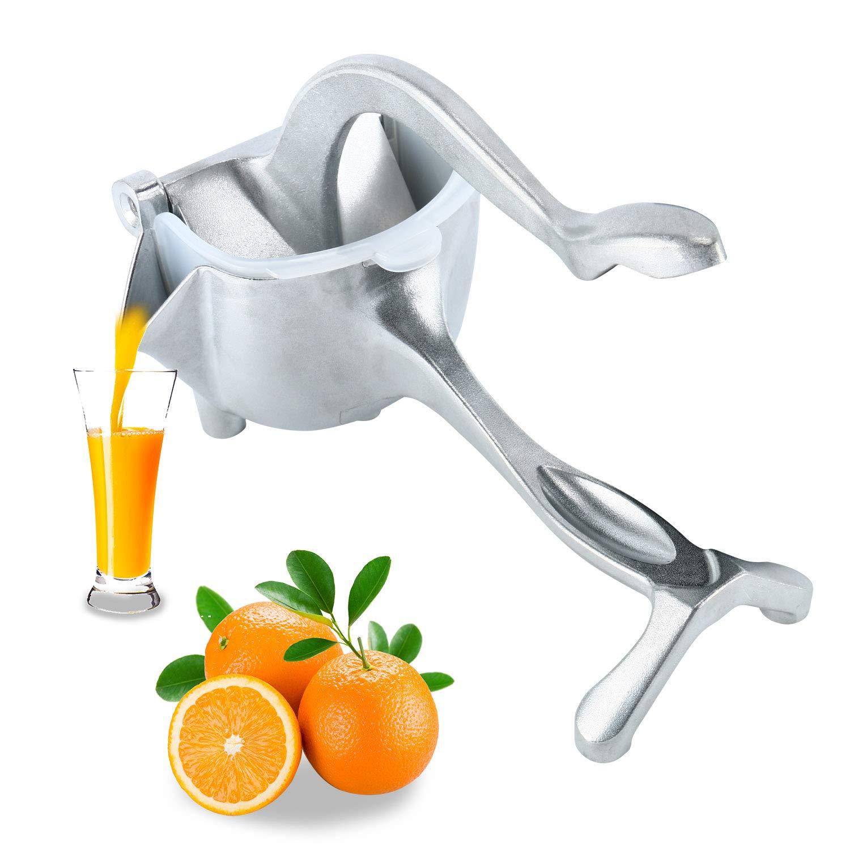 Homend Heavy Duty Single Press Aluminium Lemon Squeezer, Hand Press Fruit Juicer, Manual Press Juicer (Silver) by Homend