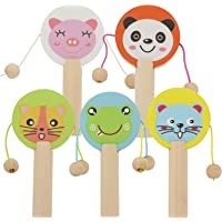 TOYANDONA 5pcs Rattle Toy Drum for Infant Shaker Toy Musical Rattles for Baby Boy Girl Toddler Instrument Educational…