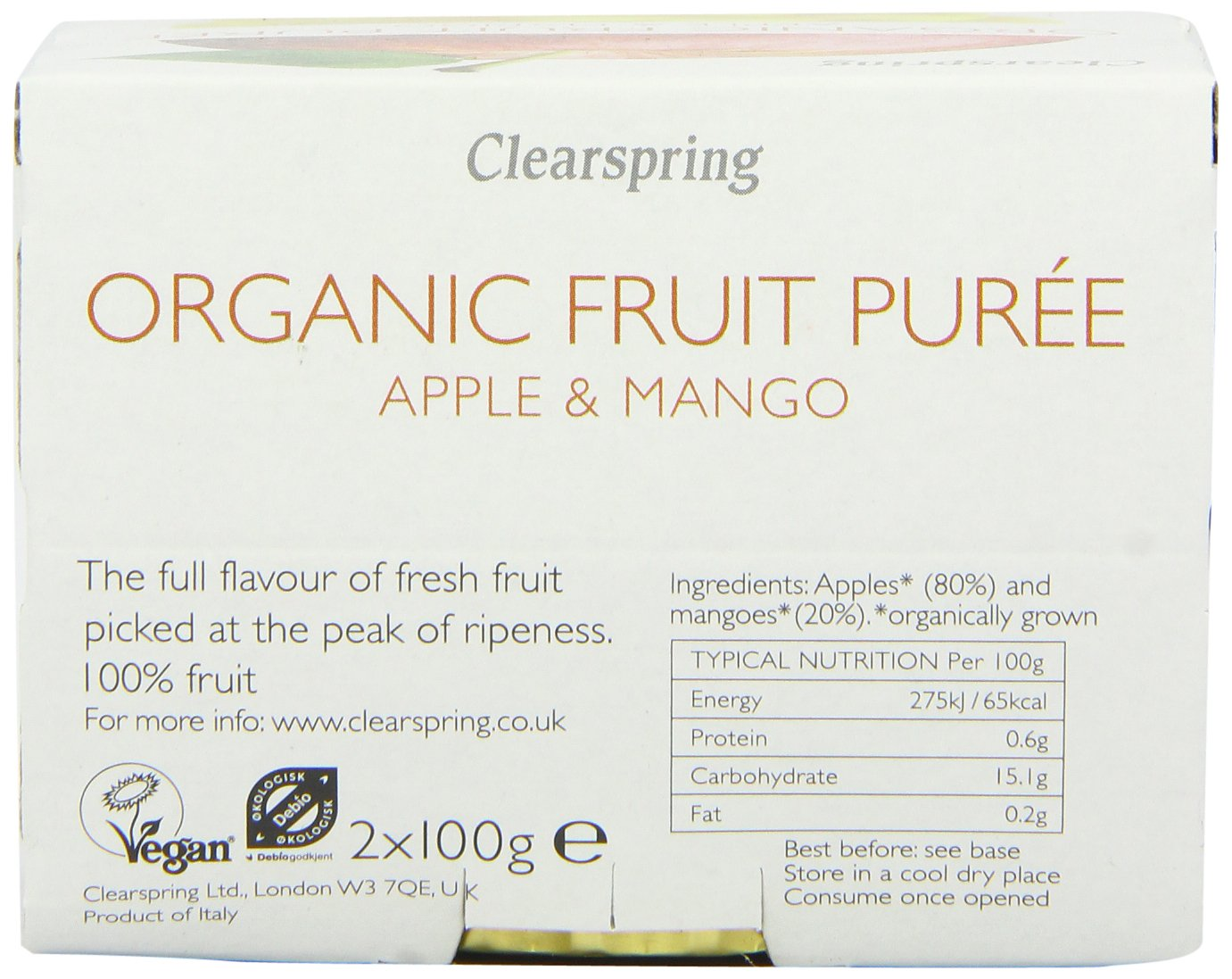 Clearspring Organic Apple and Mango Fruit Puree 2 X 100 g (Pack of 12) by Clearspring (Image #6)