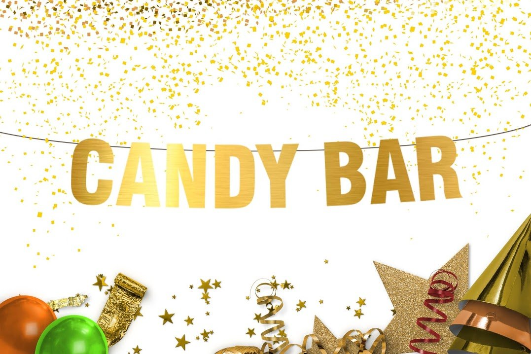 Candy bars - Candy Bar Banner - Candy Buffet Banner - Wedding Reception Banner - Dessert Bar - Wedding Decorations - engagement gifts - Wedding Banner - Gold banner - Wall decor - Party decorations