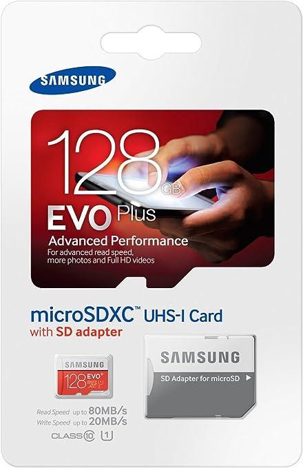 carte sd 128 go samsung Amazon.com: Samsung 128GB EVO Plus UHS i Class 10 Micro SDXC Card