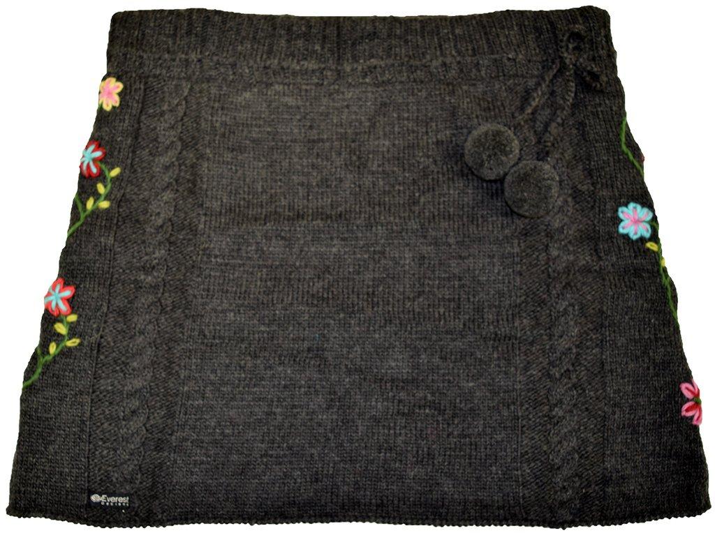 Everest Designs Women's Flower Skirt, Charcoal, Large